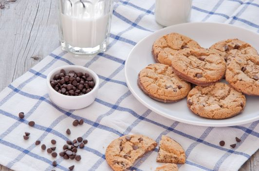 Photo free cookies, oatmeal, milk