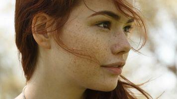 Фото бесплатно Сабрина Линн, рыжая, лицо