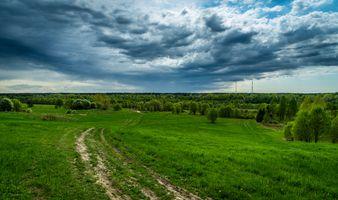 Фото бесплатно облака, весна, дорога