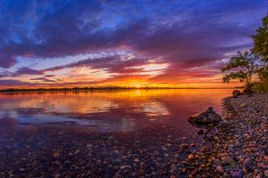 Фото бесплатно Columbia River Sunset, река, закат