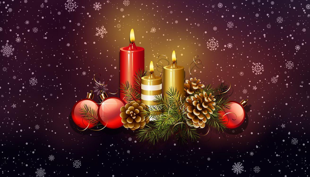 Фото бесплатно рождественский орнамент, элементы, свечи - на рабочий стол