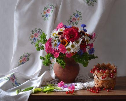 Photo free photo, vase background, bouquet