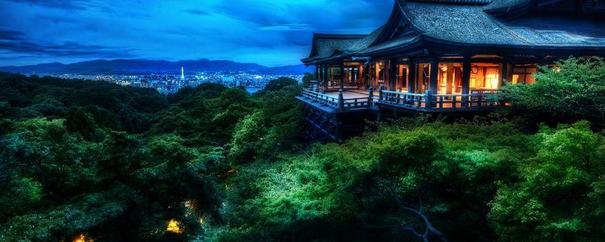 Фото бесплатно Киёмидзу-дэра, Буддийский храм в Киото, Япония, двойной, монитор, мульти, экран, широкоформатный