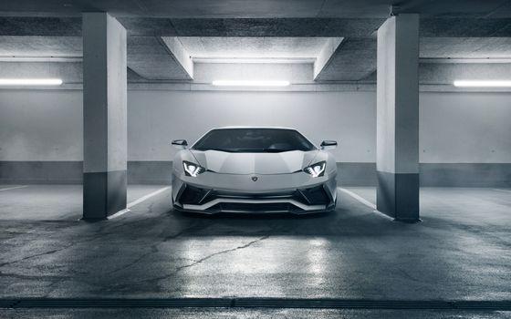 Фото бесплатно Lamborghini Aventador S, вид спереди, автомобили