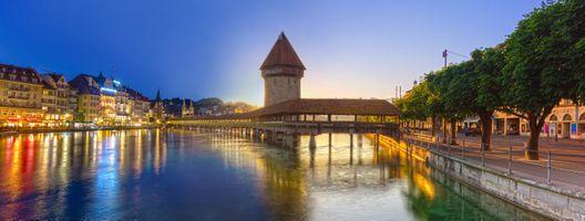 Photo free Switzerland, sunset, city