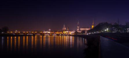 Фото бесплатно Старый город Дрезден, Саксония, Германия