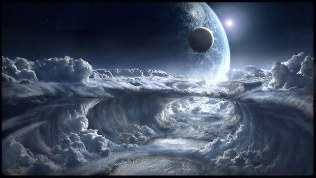 Photo free Galaxy, vacuum, clouds