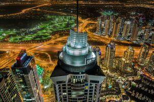 Фото бесплатно Дубай ОАЭ ночь, ночной город, архитектура