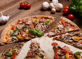 Грибная пицца · бесплатное фото