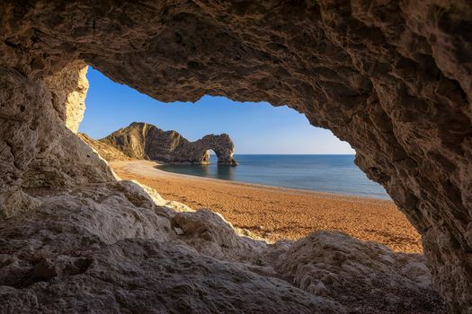Photo free Cave View of Durdle Door, Dorset, sea