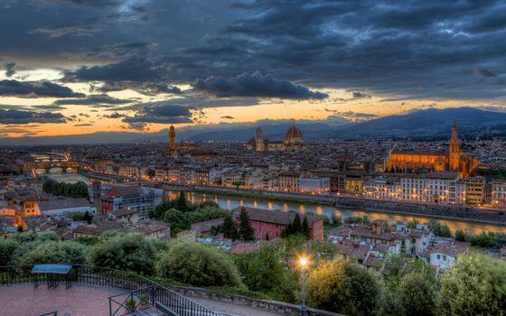 Фото бесплатно Италия, Тоскана, закат