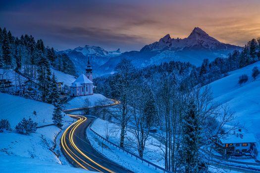Заставки пейзаж, Church of Maria Gern, Germany
