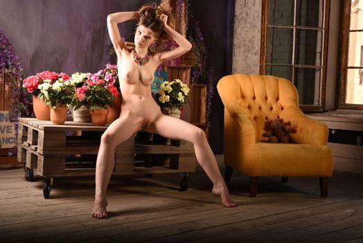 Photo free Caramel, naked girl, poses