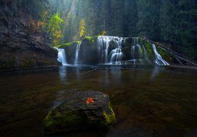 Фото бесплатно Lower Lewis falls, осень, река