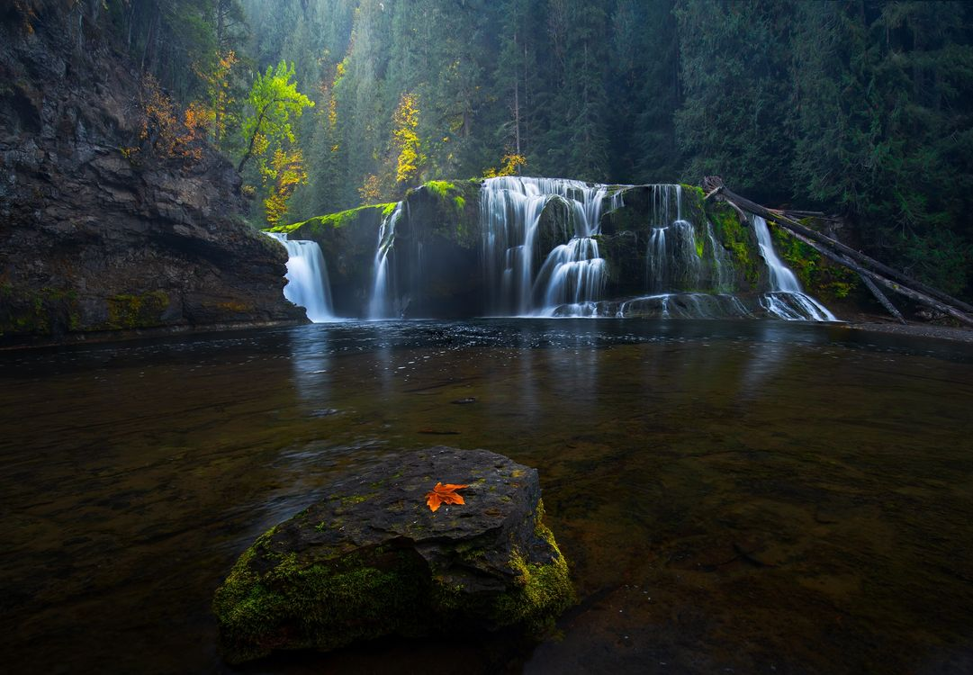 Фото бесплатно Lower Lewis falls, осень, река, водопад, природа, пейзаж, пейзажи