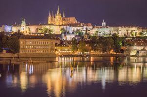 Фото бесплатно иллюминация, Чешская Республика, мосты