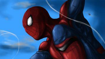 Заставки Spiderman, художественное произведение, Behance