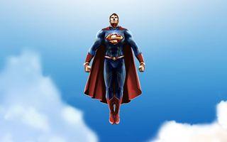 Фото бесплатно супермен, супергерои, произведения искусства