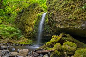 Заставки Водопад, Мшистый Грот, Ручей Руккель в ущелье реки Колумбия
