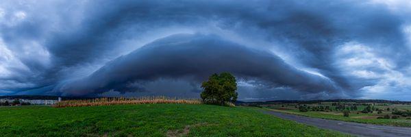 Фото бесплатно Storm front in Zurich, Швейцария, поле