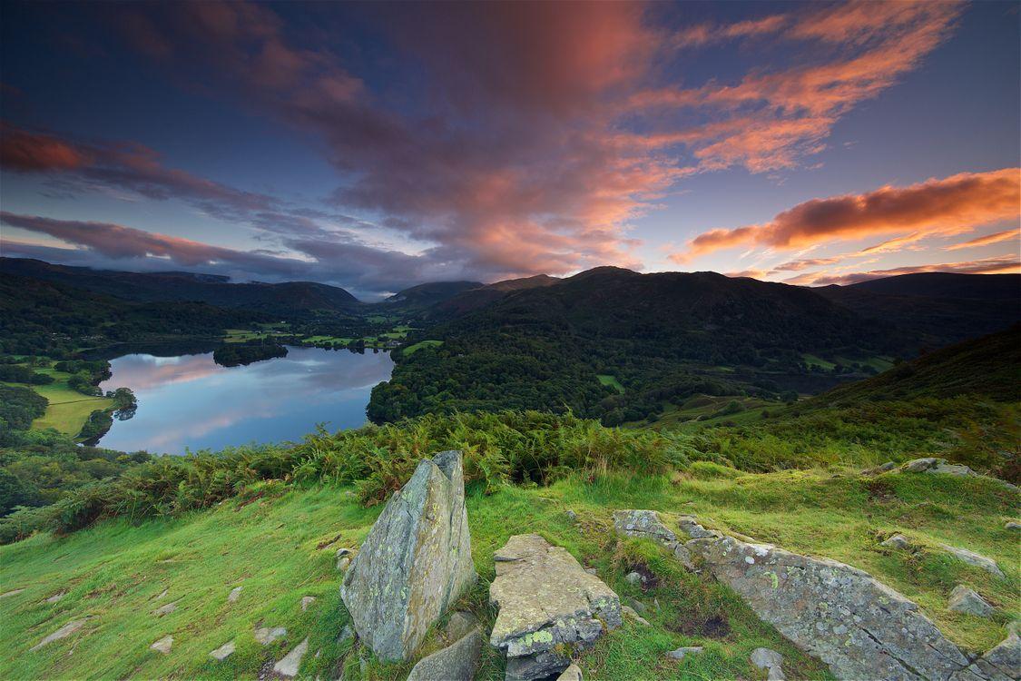 Фото бесплатно Англия, Lake District, National Park Lake Grasmere - на рабочий стол