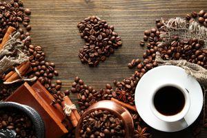 Кофейное сердце · бесплатное фото
