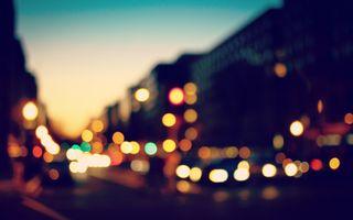 Заставки Город, размытие, фотография