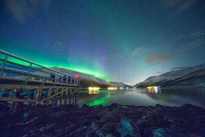 Бесплатные фото дом, закат, облако, звезда, ночь, звездный, норвежский