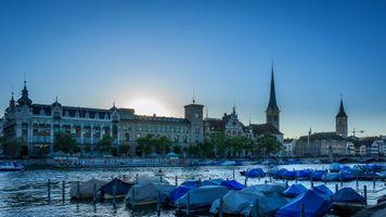 Фото бесплатно Цюрих, Швейцария, город
