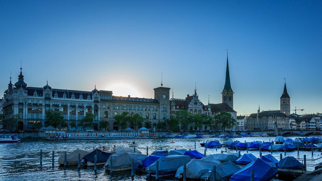 Фото бесплатно Цюрих, Швейцария, город - на рабочий стол