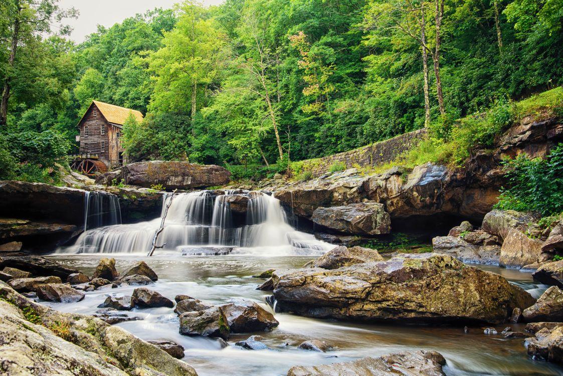 Free photo waterfall, West Virginia, rocks - to desktop