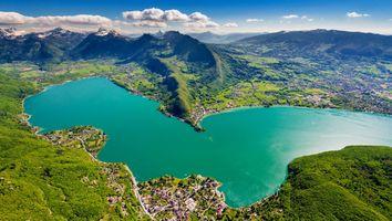 Заставки зеленый, озеро, пейзаж