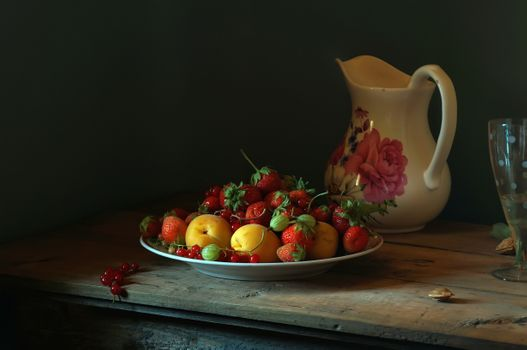 Still Life with Jug and Fruit · free photo