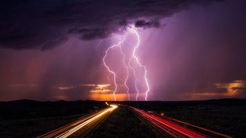 Бесплатные фото молния,шторм,непогода,ночь,иллюминация,дорога,небо