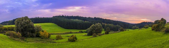 Заставки небо,пастбище,природа,холм,высокогорный,поле,монтировать декорации