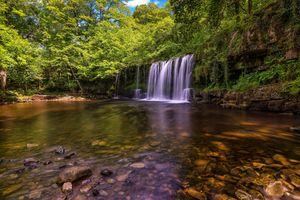 Смотрите картинки на тему лес, водопад