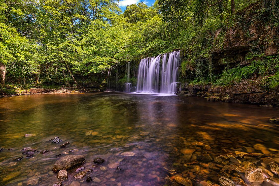 Фото бесплатно река, водопад, камни - на рабочий стол