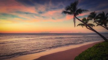 Заставки пляж, закат, океан