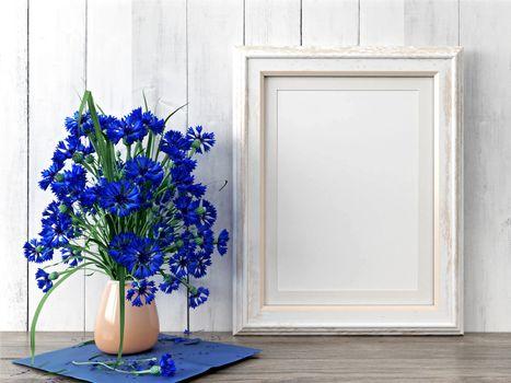 Photo free cornflowers, blue, vase