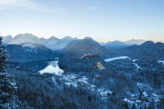 Бесплатные фото Neuschwanstein Castle,F ssen,Germany,зима