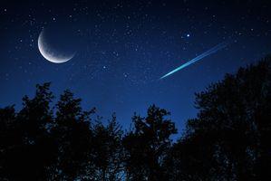 Фото бесплатно ночь, луна, планета