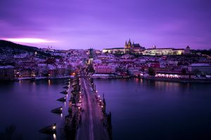 Photo free Prague, winter, bridge