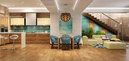 Фото бесплатно гостиная, кухня, мебель