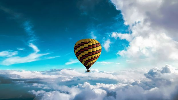 Photo free balloon, clouds, sky