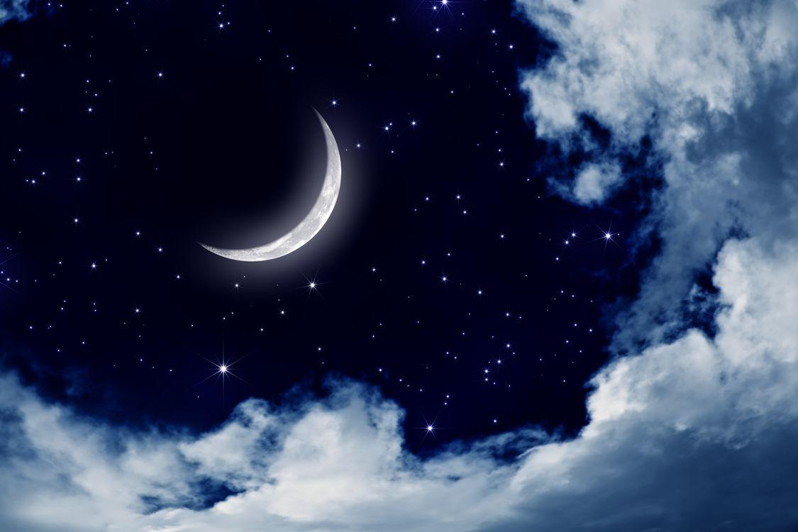 Фото бесплатно облака, пейзаж, Луна, лунный свет, природа, ночь, небо - на рабочий стол