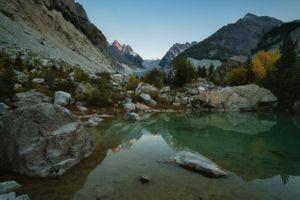 Вид на ледник Караугом на Кавказе · бесплатное фото