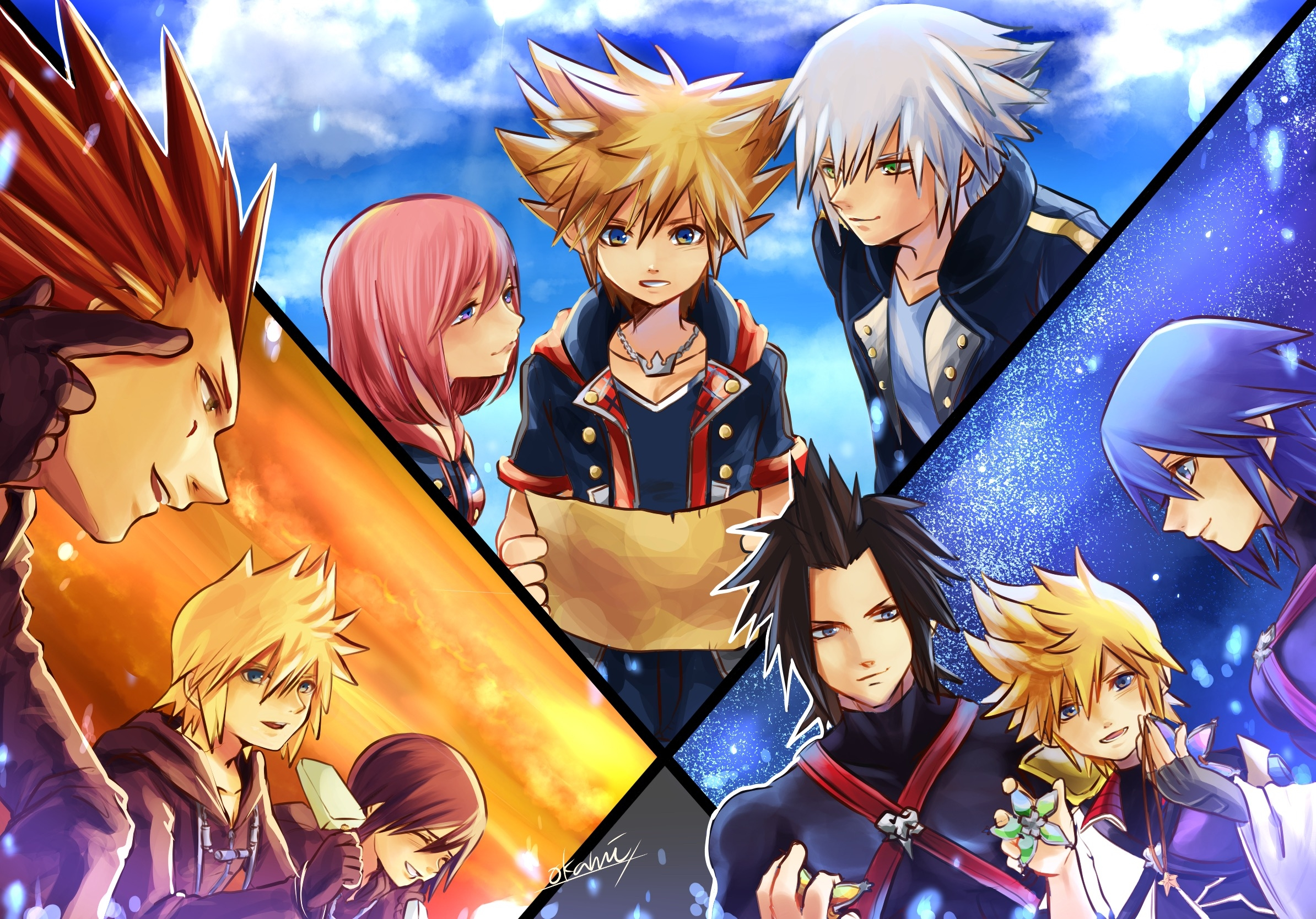 Free Photo A Series Of Kingdom Hearts Ventus Terra To Desktop