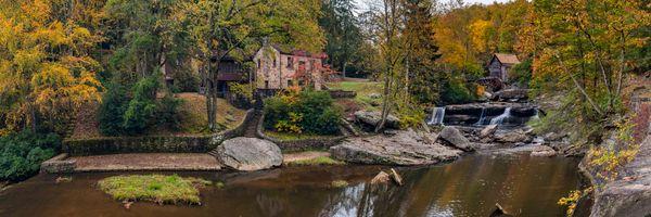 Бесплатные фото Glade Creek Grist Mill,West Virginia,United States,осень водяная мельница,панорама,пейзаж