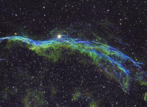 Бесплатные фото туманность,Вуаль,космос,Veil Nebula