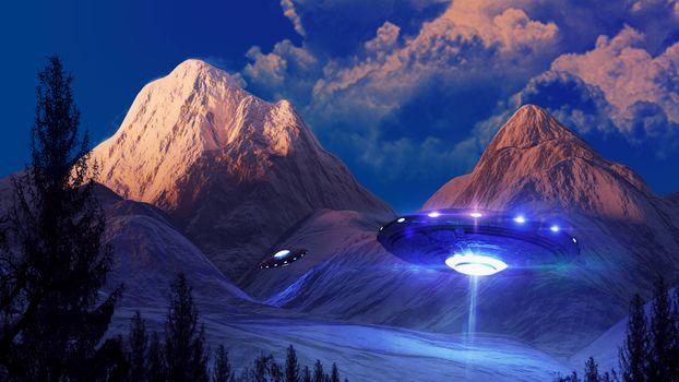 Фото бесплатно фантастика, НЛО, неопознанный летающий объект
